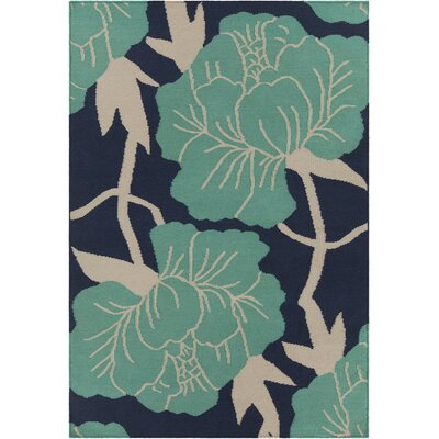 Thomaspaul Patterned Designer Blue/Aqua Area Rug by Chandra