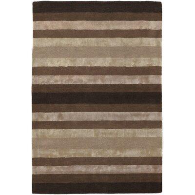 Gardenia Brown/Tan Stripes Area Rug by Chandra