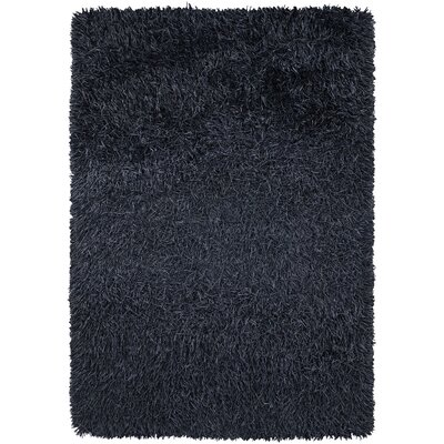 Chandra Rugs Poligan Shag Navy Area Rug