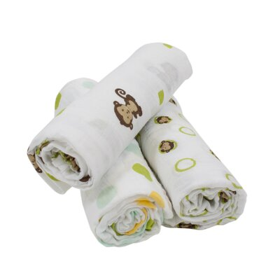 Curly Tails 3 Piece Swaddle Blanket Set by Bedtime Originals