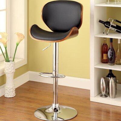 Tyler II Adjustable Height Swivel Bar Stool with Cushion by Hokku Designs