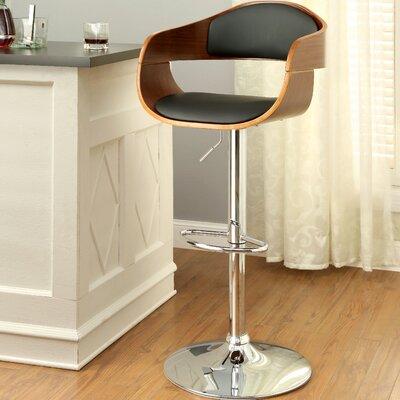Tyler III Adjustable Height Swivel Bar Stool with Cushion by Hokku Designs