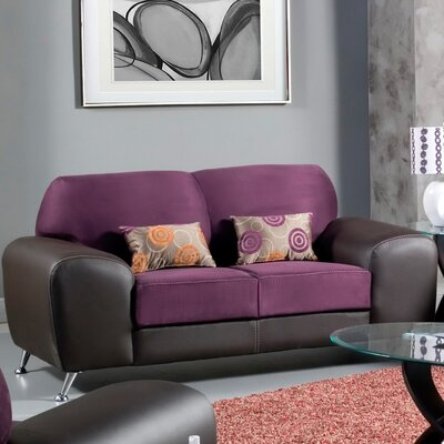 Hokku Designs Sona Leatherette Loveseat