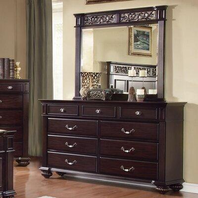 Sienzie 9 Drawer Dresser with Mirror by Hokku Designs