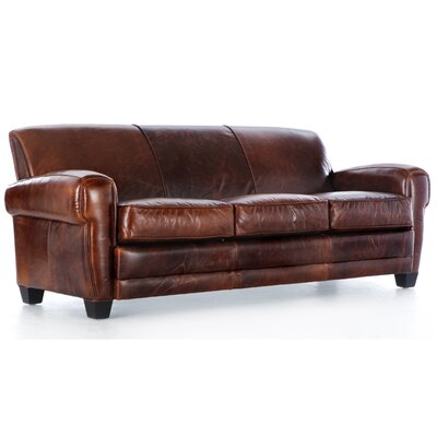 Havana Paris Grain Leather Sofa by Hokku Designs