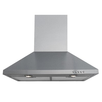 230 - 600 CFM Wall Mount Range Hood in Stainless Steel Product Photo
