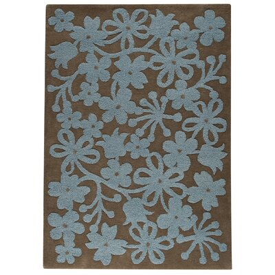 Hokku Designs Marigold Grey/Turquoise Area Rug