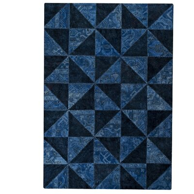 Hokku Designs Tile Viviana Blue / Turquoise Area Rug