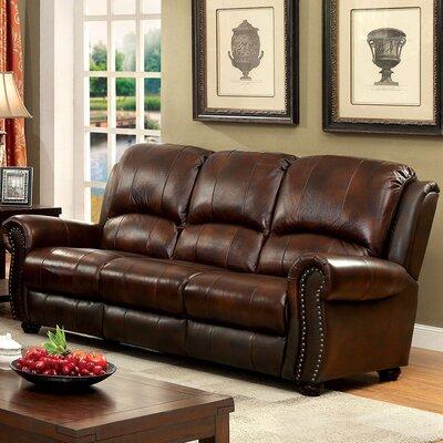 Rigo Transitional Leather Sofa by Hokku Designs