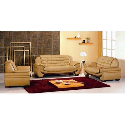 Westminster 3 Piece Leather Sofa Set by Hokku Designs