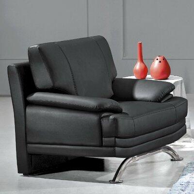 Phoenix Leather Chair by Hokku Designs