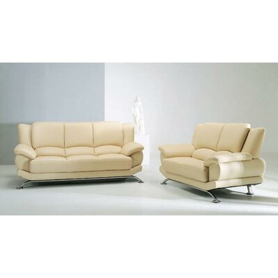 Jaeger 3 Piece Leather Sofa Set by Hokku Designs