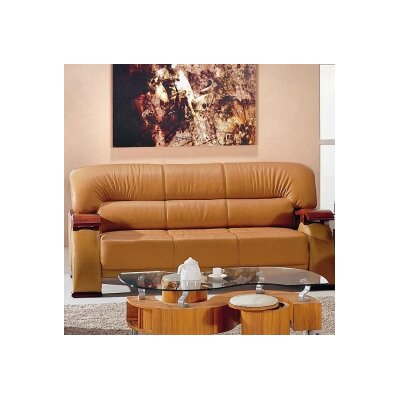 Chrysocolla Leather Sofa by Hokku Designs