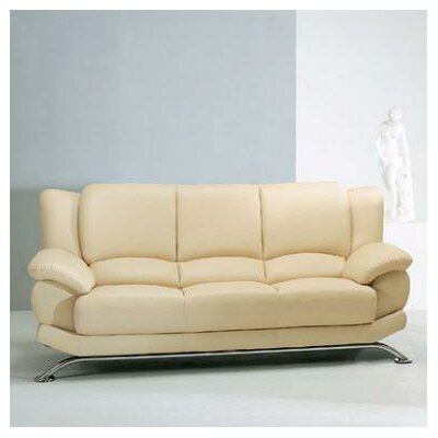 Jaeger Leather Sofa by Hokku Designs