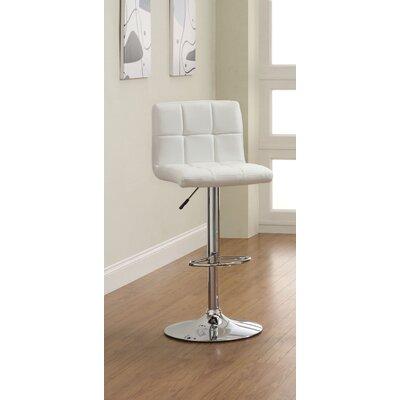 Hokku Designs Pure Adjustable Height Swivel Bar Stool with Cushion