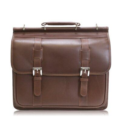 Manarola Signorini Leather Laptop Briefcase by Siamod