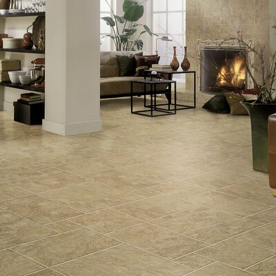 """Shaw Floors Piazza 20"""" x 20"""" Porcelain Field Tile in Cream"""