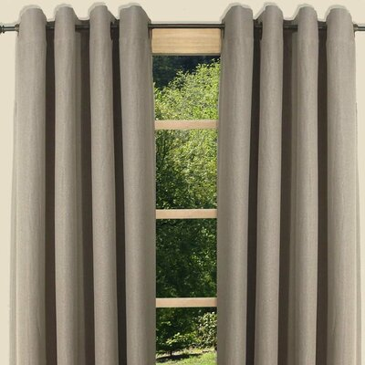 Canvas Black Out Grommet Single Curtain Panel Product Photo