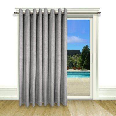 Grasscloth Lined Grommet Patio Single Curtain Panel Product Photo