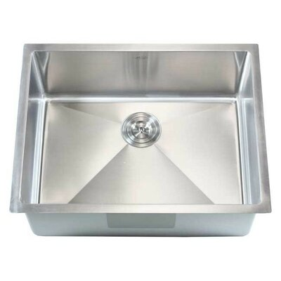 "Ariel 26"" x 20"" Single Bowl Undermount Kitchen Sink Product Photo"