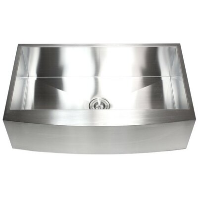 "Ariel 36"" x 21"" Stainless Steel Single Bowl Farmhouse Kitchen Sink Product Photo"