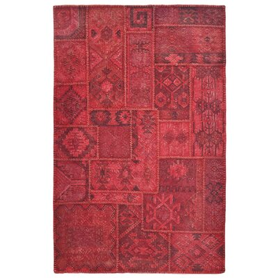 Lavaggio Crimson Patchwork Area Rug by Kosas Home