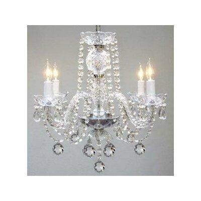 4 Light Crystal Chandelier by Harrison Lane
