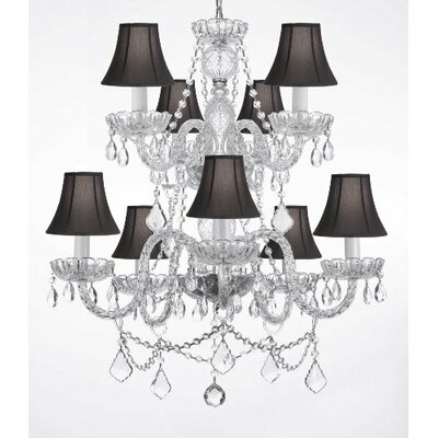 9 Light Crystal Chandelier by Harrison Lane