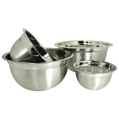 Euro Style 4 Piece Stainless Steel Mixing Bowl Set by Prime Pacific