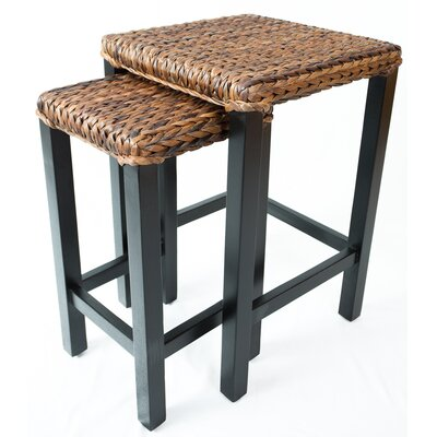 2 Piece Seagrass Nesting Table by BirdRock Home