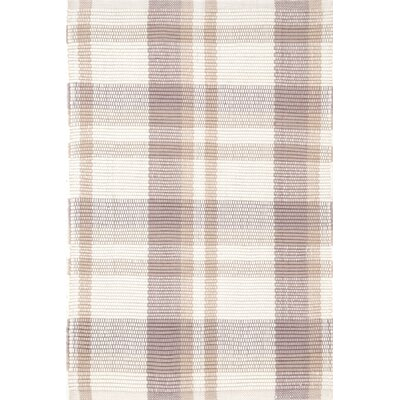Bunny Williams for Dash and Albert Charlie Beige Plaid Indoor / Outdoor Area Rug
