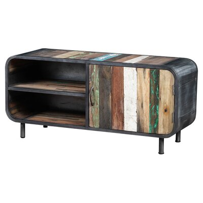 Recycled Boat Wood TV Stand by Artemano