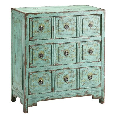 Stein World Hand Painted Apothecary 3 Drawer Chest