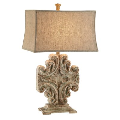 """Stein World Sonia Vintage Scroll 30"""" H Table Lamp with Rectangular Shade"""