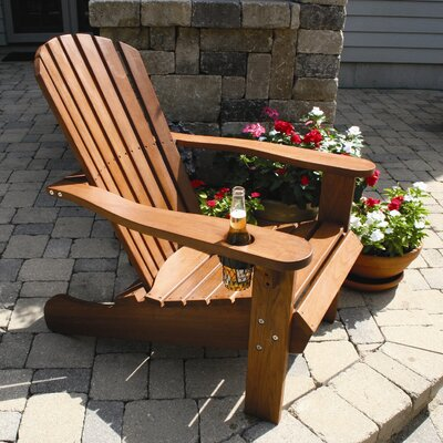 Patio Perfect King Adirondack Chair with Cup Holder