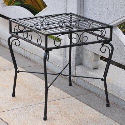Tropico Iron Patio Side Table by International Caravan