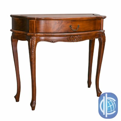 Windsor Hand-Carved One Drawer Hall Table by International Caravan