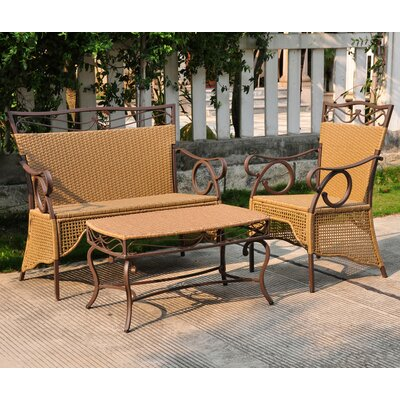 Valencia 3 Piece Patio Lounge Seating Group by International Caravan