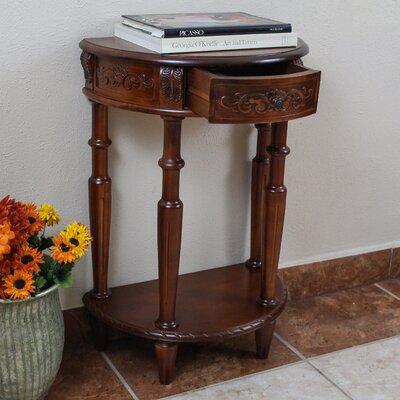 International Caravan Windsor Hand Carved Half Moon Console Table