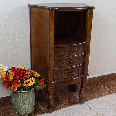Carved Wood Furniture Telephone Table by International Caravan