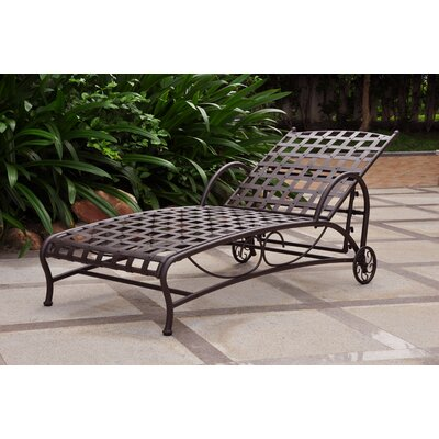 International Caravan Santa Fe Iron Multi Position Patio Chaise Lounge