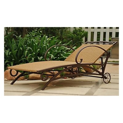 International Caravan Valencia Wicker Resin Multi-Position Outdoor Chaise Lounge