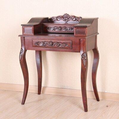 Windsor Hand Carved Wood Telephone Table by International Caravan