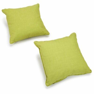Blazing Needles Solid Outdoor Throw Pillow