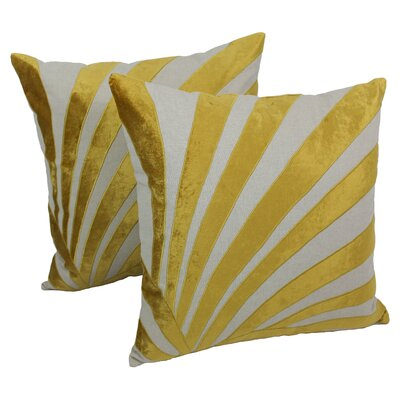 Indian Sun Ray Cotton Throw Pillow by Blazing Needles
