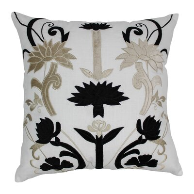 Indian Floral Elegance Cotton Throw Pillow by Blazing Needles