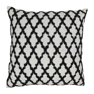 Moroccan Patterned Cotton Throw Pillow by Blazing Needles
