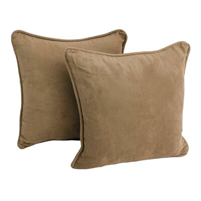 Blazing Needles Package Microsuede Throw Pillow