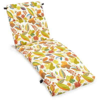 Blazing needles skyworks outdoor chaise lounge cushion for Blazing needles chaise cushion