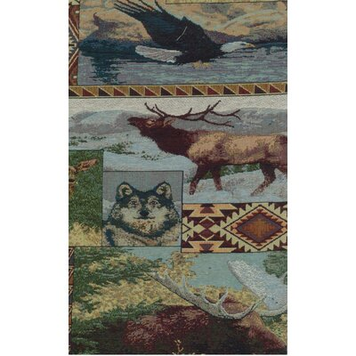 Blazing Needles Tapestry The Wild North Futon Slipcover Set